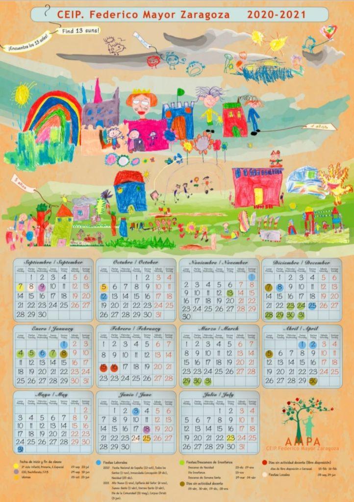 Calendario escolar AMPA